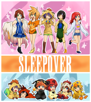 SleepOver girls by ruistyfles