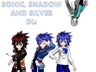 MMD Lat Sonic, Shadow and Silver DL by Sonicmarge