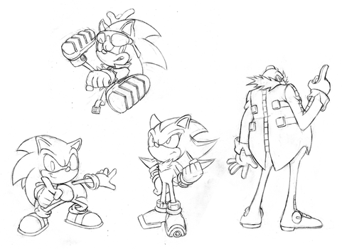 Sonic sketches 4 by Hydro-King
