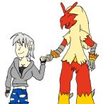 REquest- Oc And Blaziken by Dracoknight545