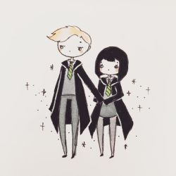 Draco and Pansy by mochatchi