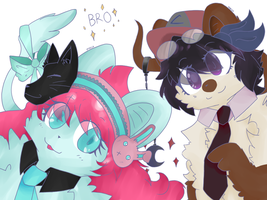 Finished Collaboration Thing !! oAo by Cattailarts