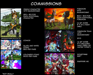 Opening for a few commissions yo by kitfox-crimson