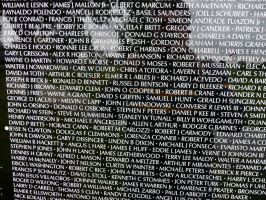 Vietnam Moving Wall names 2 by dull-stock
