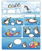 Penguins by hanno