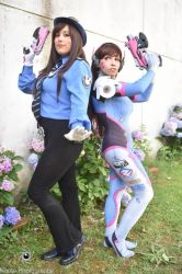 I see double :D.Va Overwatch: by Galatea-DNegro