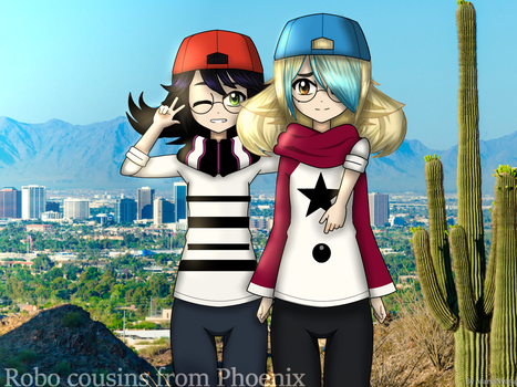 Robo cousins from Phoenix (Silver and Bluferry) by MariaNya54
