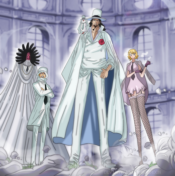 One Piece Chapter 907 CP0 Rob Lucci Shanks Gorosei by Amanomoon