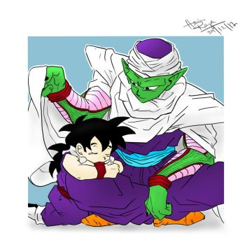 Piccolo and Gohan by trazor29