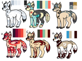 WOLF ADOPTS ( 2/6 OPEN) TWO MORE LEFT) by Perma-Fox