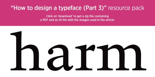 'How to design a typeface (Part 3)' resource pack by MartinSilvertant