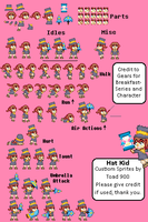 Hat Kid Sprite Sheet by Toad900