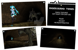 MMD Underground Tunnel stage by IgnisDraconi