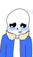 Sans Blushing by Momo-Chico