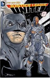 Batman and Deathstroke Hand Drawn Sketch Cover by sullivanillustration