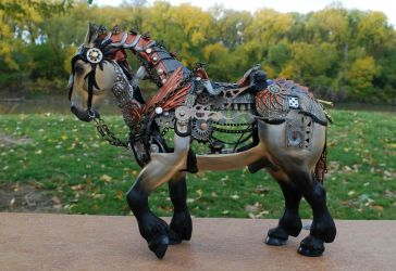 Steamjunk horse by FriesianFury