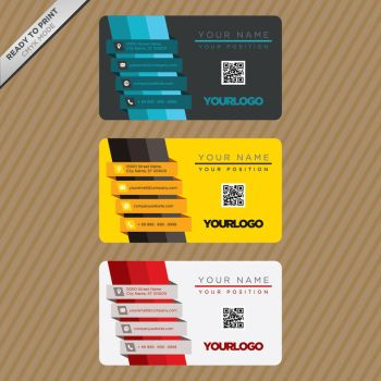 Business card template design Free Vector by coddih