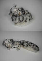 Sleeping Snow Leopard Plush by WhittyKitty