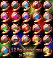 22 More Firefox Icons by 0dd0ne