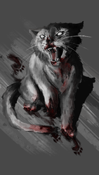 Zombie Cat by GrindcoreDancer