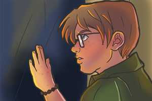 Griffin Perkins stares out the window by novemberkris