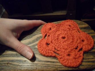 Crochet Glass Mat...kind of by kayanah
