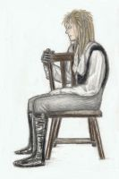 King Jareth sitting on a plain chair 2 by gagambo