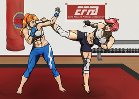 Alicia vs Sophia - Sparring Session by VeXeDZERO