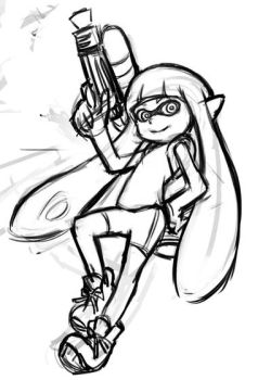 Splatoon girl sketch by Jethroxas13