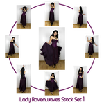 Lady Ravenwaves stock set 1 by charligal-stock