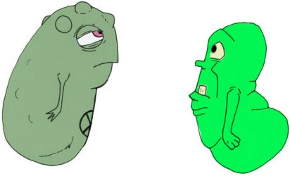 Doop and Slimer by Tenzhi