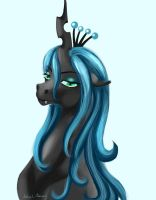 Chrysalis bust by AstralAnomaly