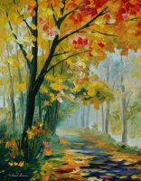 Path To The Past by Leonid Afremov by Leonidafremov