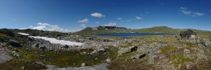 Snow and Finsevatnet by dseomn