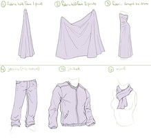 Clothing Folds Study by xrg-artwork
