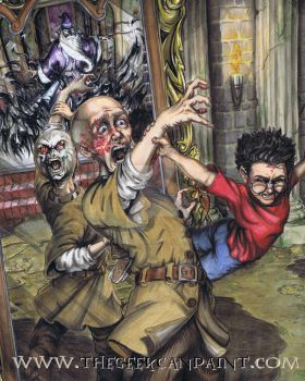 Harry Potter: Book 1 Chapter 17 Painting by TheGeekCanPaint