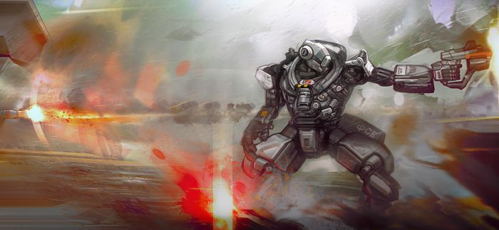 Robot Fighter by Auguy