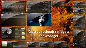 Glasses (vclouds) Widgets Pack for xwidget (FINAL) by Jimking