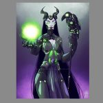 Day 46 - Techno Maleficent and Diaval by DandyAngelicaVannini