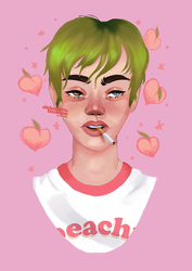 and all of my peaches by Thearchetypes