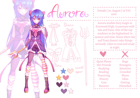 Aurora (OC) - Reference Sheet by Zharleste
