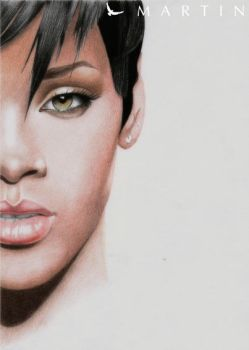 Rihanna colour drawing by Martin--Art