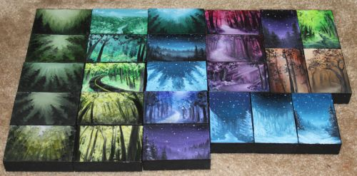 Mini Artomat Forests 26-50 by crazycolleeny