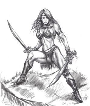 female amazon warrior by vaibhavpawar19