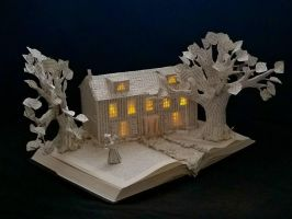 Sense and Sensibility Book Sculpture  by wetcanvas