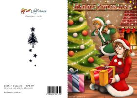 Merry Christmas! - 2015 postcard - DINA6 size by Raygirl13