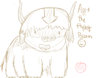 Appa The Flying Bison-Sketch by linlin7805