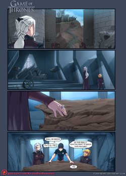 Game of Thrones 4koma: S07-E01 by FoxxFireArt