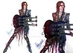 SUGIZO with ESP triple-neck Custom by divadonna224