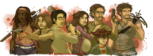 The Walking Dead by naomi-makes-art73